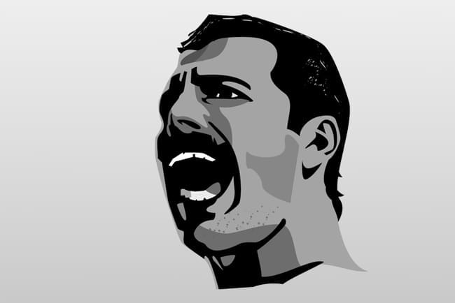 Representación de Freddie Mercury